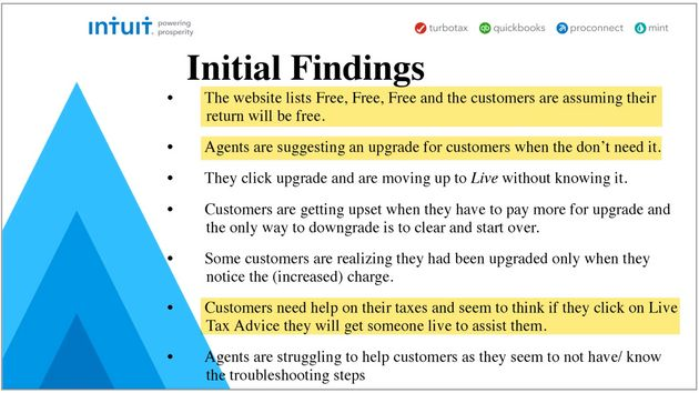 An internal Intuit analysis of customer calls this year shows widespread customer confusion about ads...