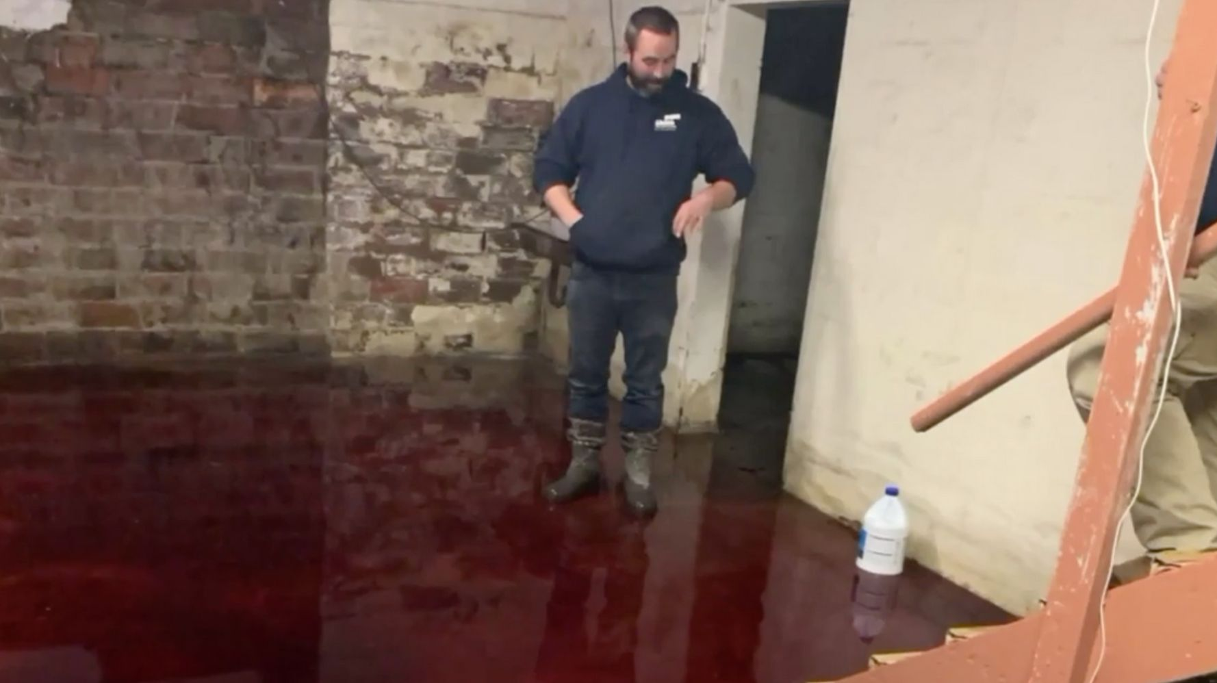 Westlake Legal Group 5da891c32000000210505fe9 Iowa Family's Basement Is Soaked With 5 Inches Of Animal Blood