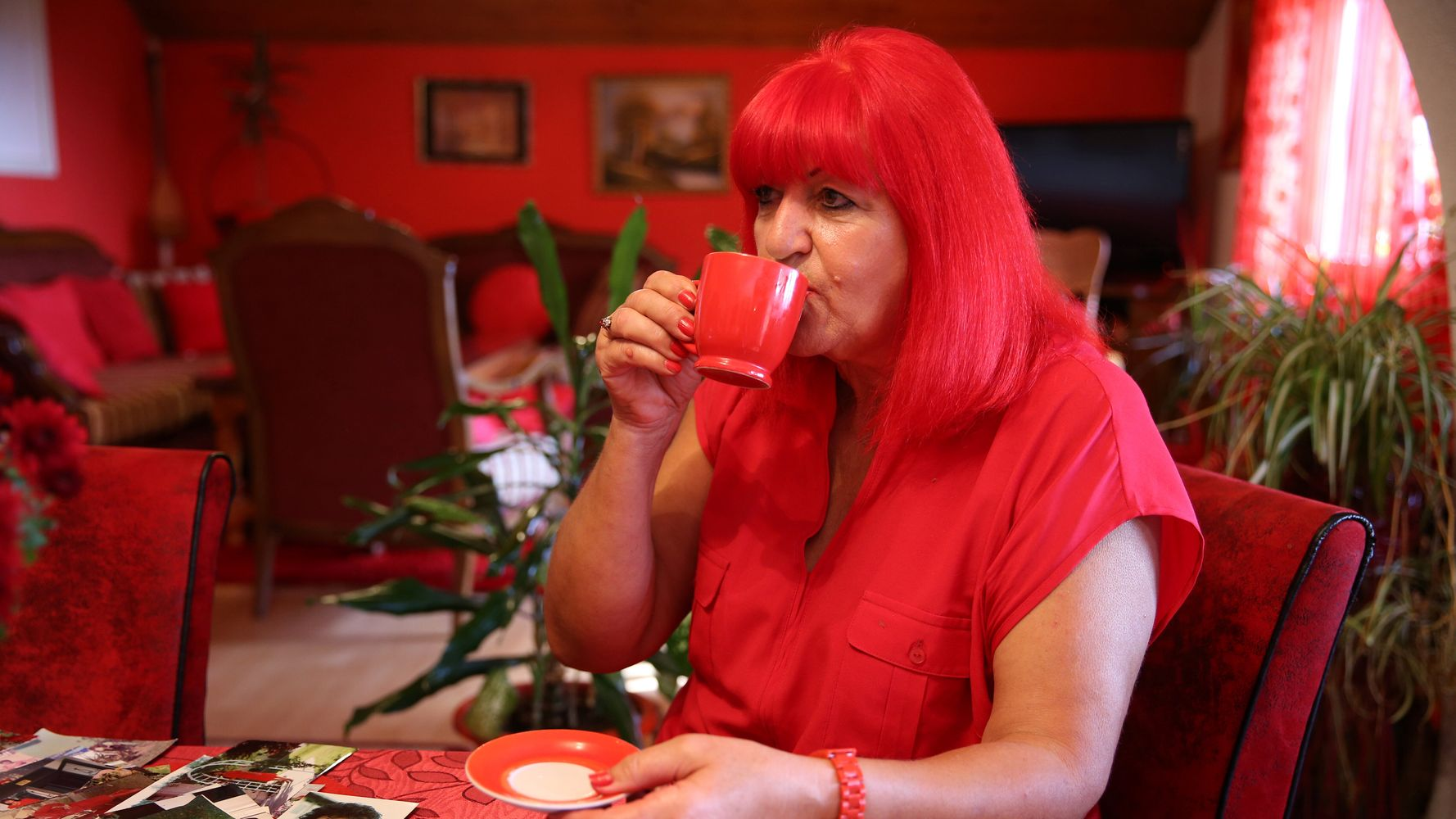 Image result for Bosnian Woman Tickled Pink By Her All-Red Lifestyle