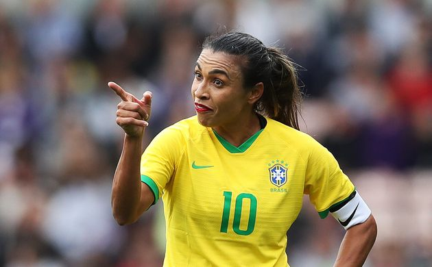 Marta durante partida em 5 de outubro de 2019, no Riverside Stadium, na