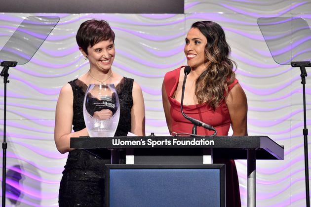 Marta recebe prêmioWilma Rudolph Courage Award, concedido pela instituição...