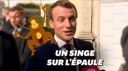 Macron élude une question sur le voile avec une expression de grand