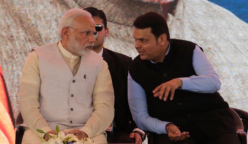 Prime Minister Narendra Modi Maharashtra CM Devendra Fadnavis in a file