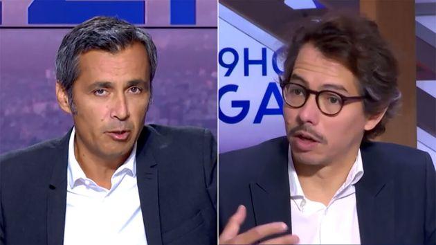 Olivier Galzi (à gauche) a scandalisé son chroniqueur Thomas Porcher (à droite) avec une comparaison...