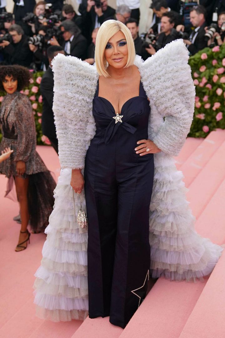 """Kris Jenner at the 2019 Costume Institute Benefit Gala celebrating the opening of """"Camp: Notes on Fashion."""""""