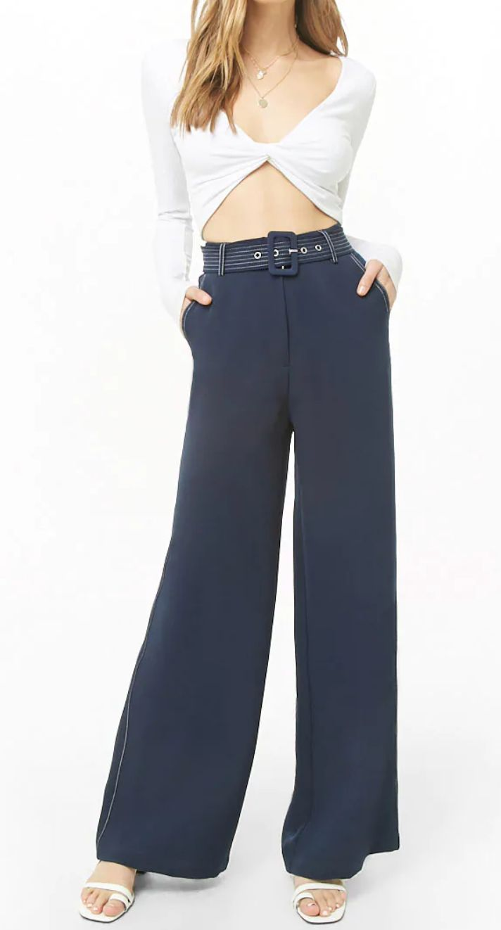 "<a href=""https://www.forever21.com/us/shop/catalog/product/f21/bottoms/2000323493#Review"" target=""_blank"" rel=""noopener noreferrer"">Forever 21,&nbsp;High-Rise Wide-Leg Pants, $19.53</a>"