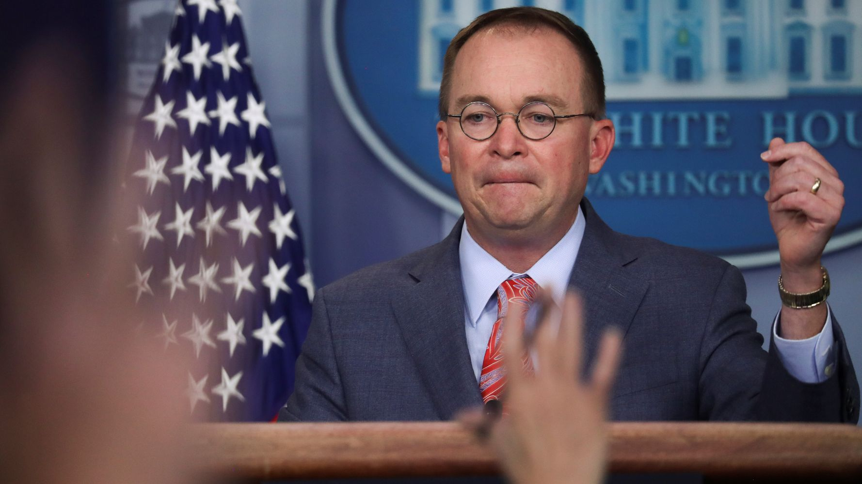 Westlake Legal Group 5da8e5eb210000a615ad3228 Mick Mulvaney Walks Back Admission Of Quid Pro Quo In Trump's Ukraine Call
