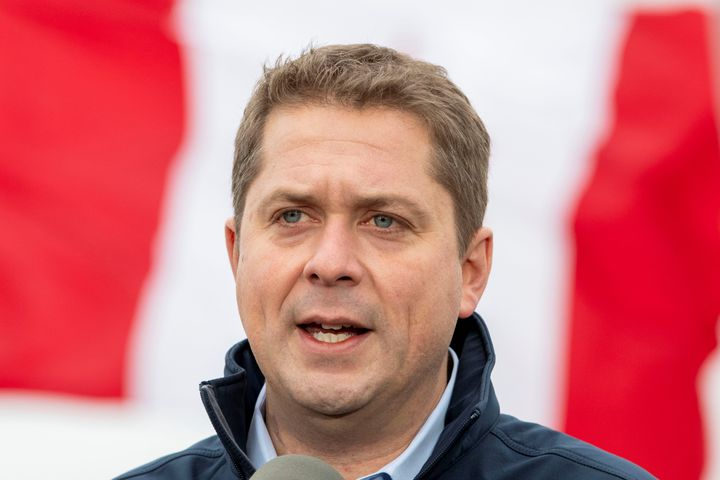 Conservative Leader Andrew Scheer campaigns in Brampton, Ont. on Oct. 17, 2019.
