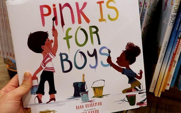"""유아용 책 """"핑크는 남자아이들에게 좋은"""