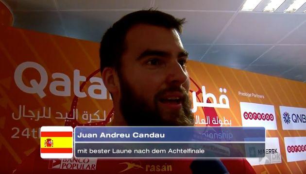 El deportista Juan Andreu defendiendo la camiseta de la