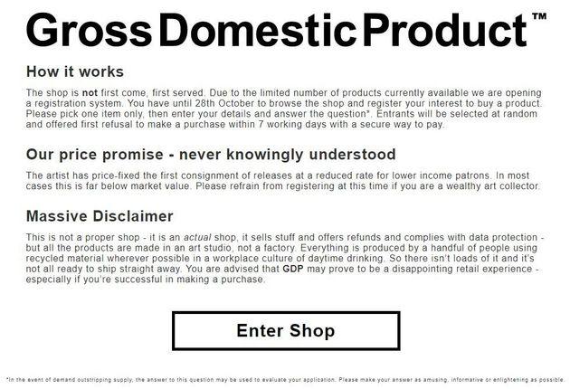 Indicazioni per l'acquisto delle opere di Gross Domestic