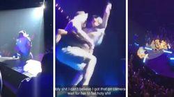 Lady Gaga cade dal palco: era in braccio a un fan durante uno show a Las