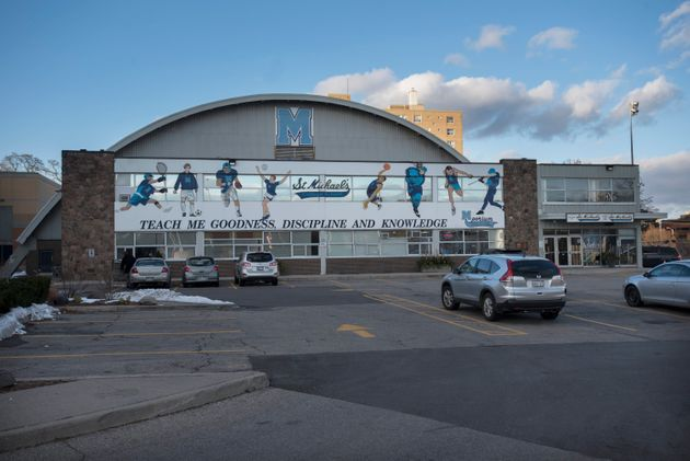 St. Michael's College School is seen here in Toronto on Nov. 20,