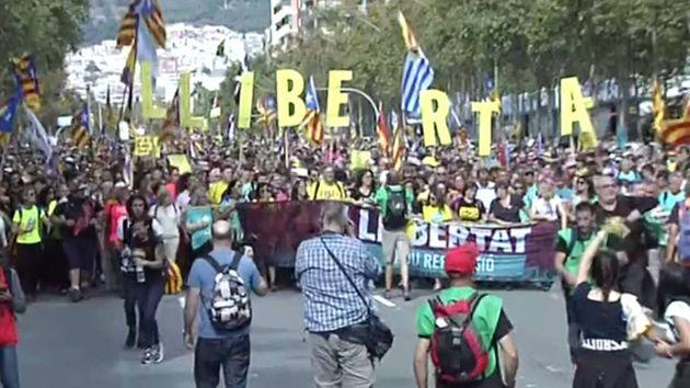 Marcha por la Libertad entrando en