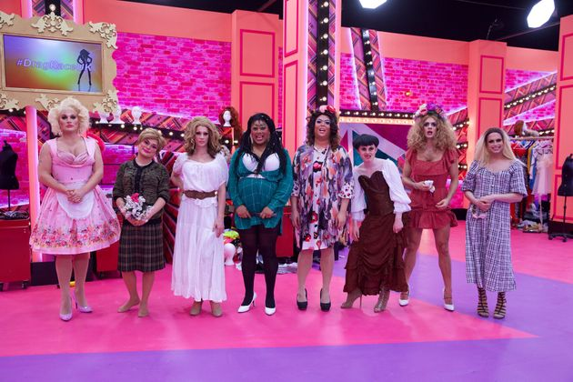 The queens had to dance around a maypole in this week's