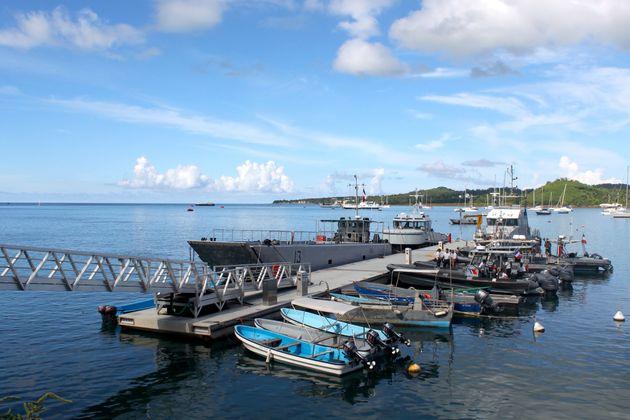 Bateaux utilisés pour intercepter les migrants clandestins à Mayotte