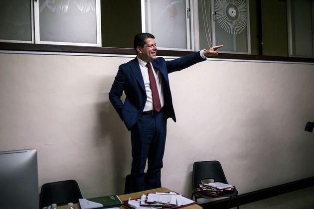 Fabian Picardo, ministro principal de Gibraltar, tras ganar las elecciones este viernes 18 de