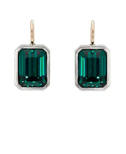 "<a href=""https://www.barneys.com/product/charmed--26-chained-emerald-cut-crystal-drop-earrings-506162434.html"" target=""_blank"" rel=""noopener noreferrer"">Charmed &amp; Chained,&nbsp;Emerald-Cut Crystal Drop Earrings, $1,500</a>"