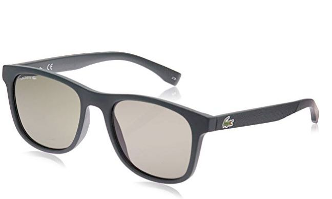 "<a href=""https://www.amazon.com/dp/B07H6YXXTY/?tag=spotern-20"" target=""_blank"" rel=""noopener noreferrer"">Lacoste,&nbsp;L884s L884S-315 Rectangular Sunglasses in Matte Green, $67.82</a>"