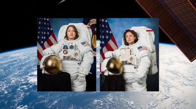 Les astronautes Christina Koch et Jessica