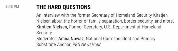 """Fortune's website currently lists Nielsen's panel as """"The Hard Questions."""" That's not what it was originally supposed to be."""