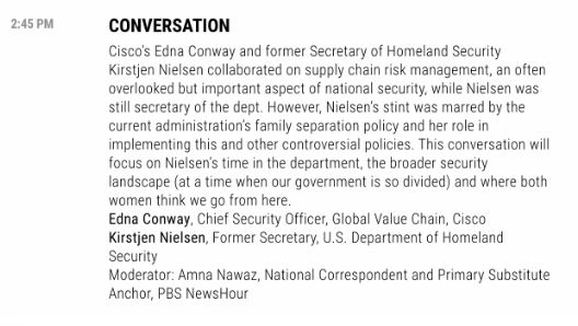 """Fortune's Most Powerful Women Summit was originally going to have Nielsen speak about """"supply chain risk management."""""""