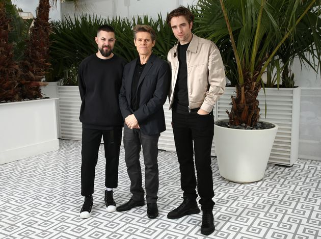 Robert Eggers, Willem Dafoe e Robert Pattinson no Festival de Cinema de Cannes, 19 de maio de
