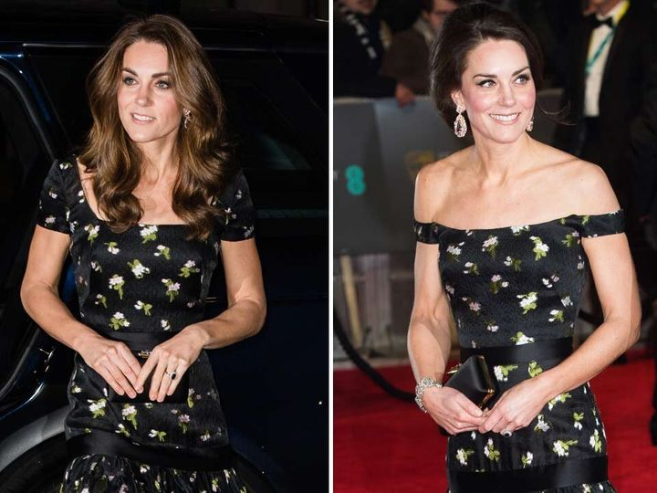 Kate Middleton in abito da sera (riciclato) al Gala della National Portrait Gallery