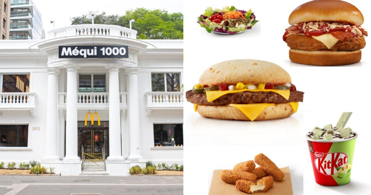 'Méqui 1000' terá menu especial com pão de queijo burger, McPolpetone e onion rings