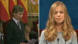 Las similitudes de Felipe y Leonor en su primer discurso