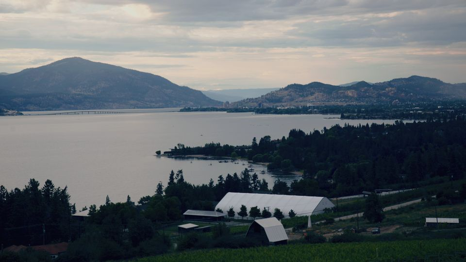 View of Kelowna on July 15,
