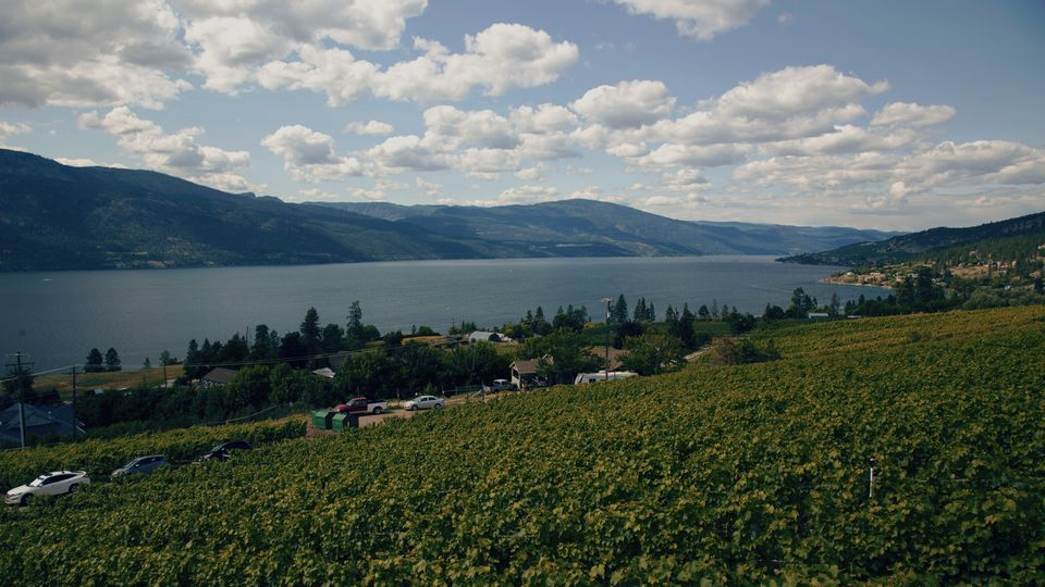 Okanagan Lake is shown on July 13,