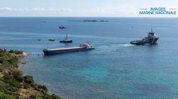 Le cargo échoué dans la réserve naturelle de Bonifacio a été