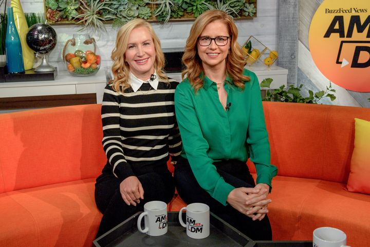"Angela Kinsey and Jenna Fischer on BuzzFeed's ""AM to DM"" Thursday."
