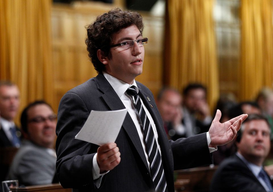 NDP MP Pierre-Luc Dusseault, seen during Question Period in the House of Commons on June 21, 2012, inspired...