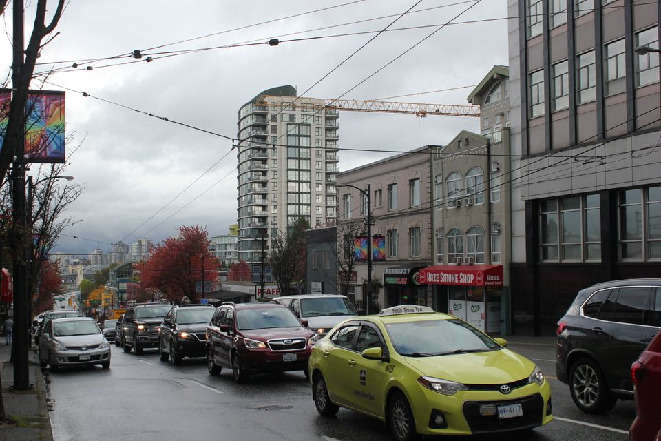 Granville Street in the riding of Vancouver