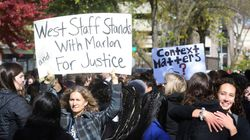 Students Protest Firing Of Black Employee Who Defended