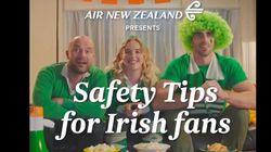ニュージーランド航空がアイルランドファンを動画で挑発?「ハカの間はシートベルトを」