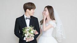 간미연·황바울 커플이 웨딩화보를 공개했다
