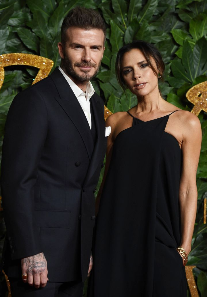 David and Victoria Beckham pictured at an event last year