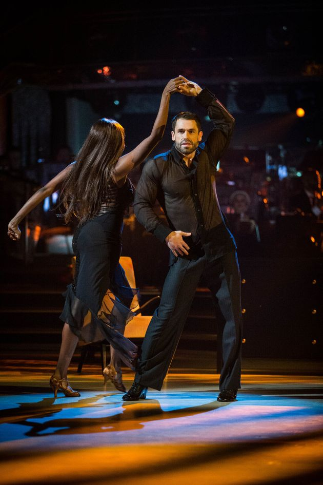 The pair's Rumba routine was branded