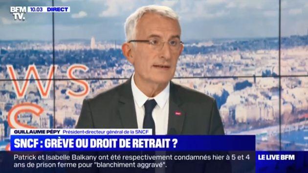 Guillaume Pepy sur BFMTV samedi 19