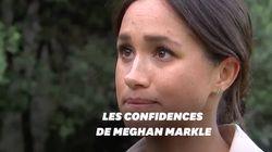 Très émue Meghan Markle évoque