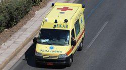 Αλεξανδρούπολη: Ανατροπή φορτηγού που μετέφερε 13