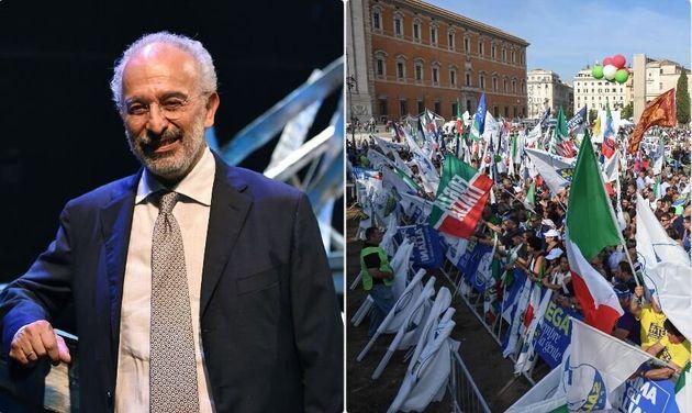 Gad Lerner - la manifestazione del centrodestra in piazza San