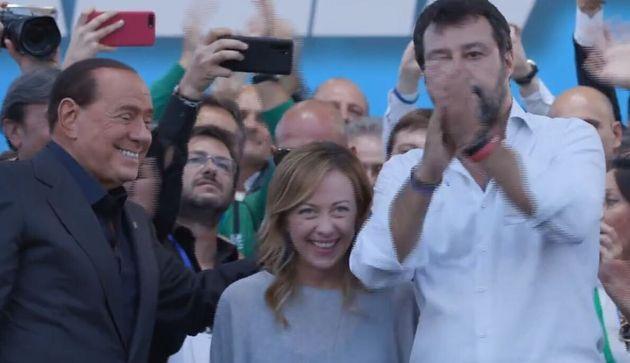 Silvio Berlusconi, Giorgia Meloni, Matteo