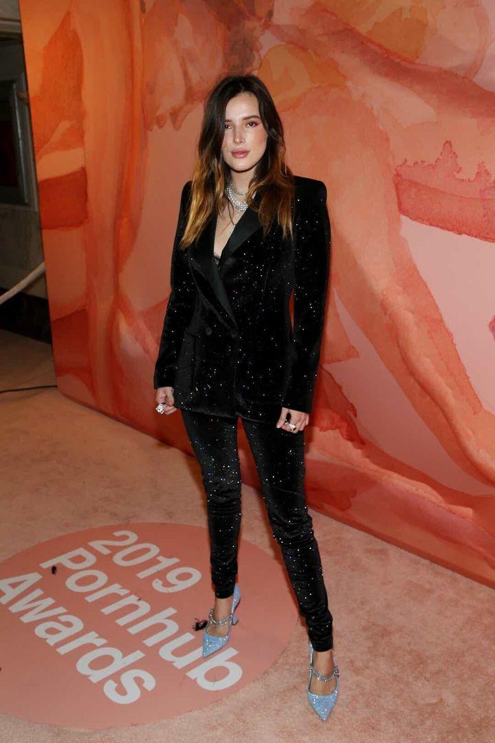 Η Μπέλα Θορν στα βραβείαPorn Hub στις 11 Οκτωβρίου στο Λος Άντζελες. Getty Images