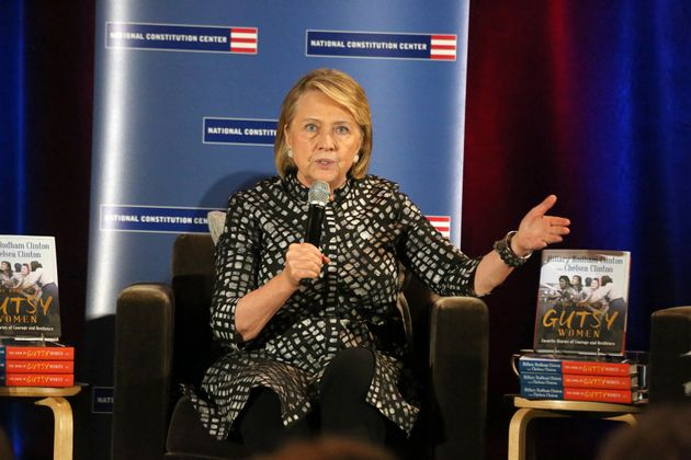 Hillary Rodham Clinton and her daughter, Chelsea Clinton, join the National Constitution Center as they...