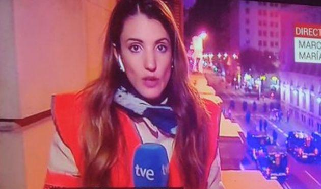 Cobertura de TVE durante los disturbios en