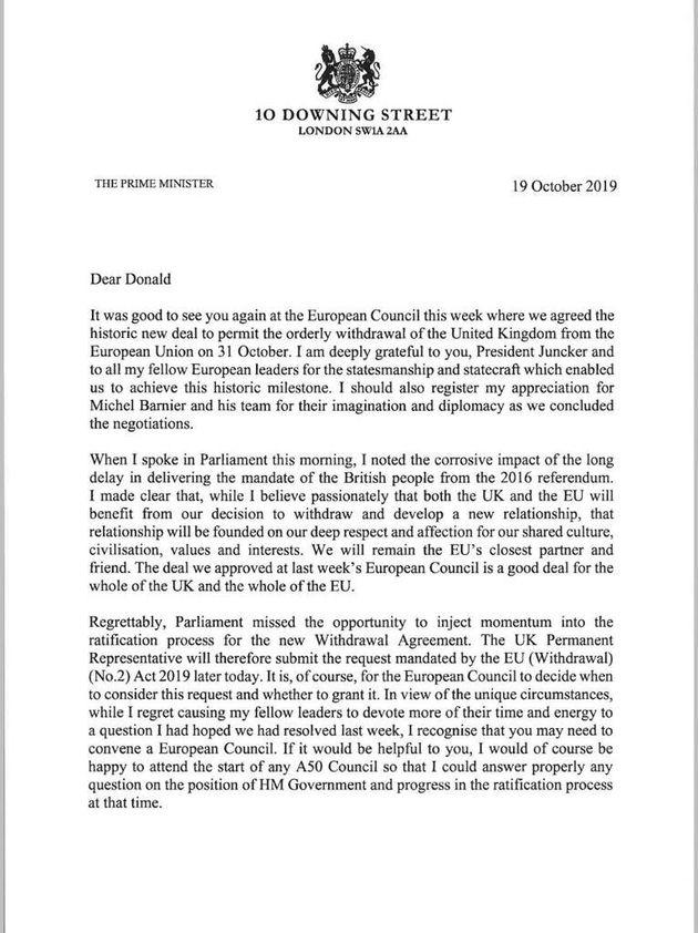La lettera di Johnson